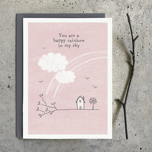 'You are a happy rainbow in my sky' Greeting Card A6
