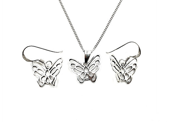 The Enchanted Butterfly Gift Set 925 Sterling Silver
