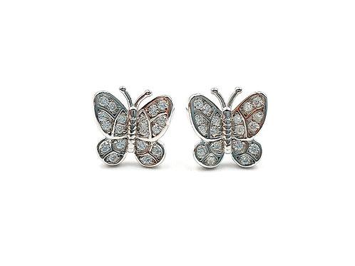 Butterfly, Butterfly Earrings, Silver Butterfly Earrings, Silver Butterfly Studs, Sterling Silver Butterfly Earrings,
