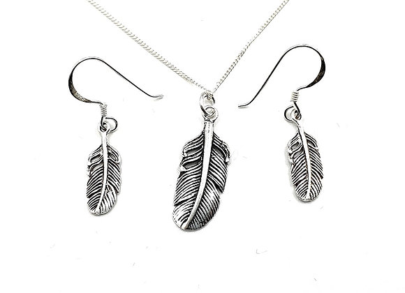 The Enchanted Feather Gift Set 925 Sterling Silver