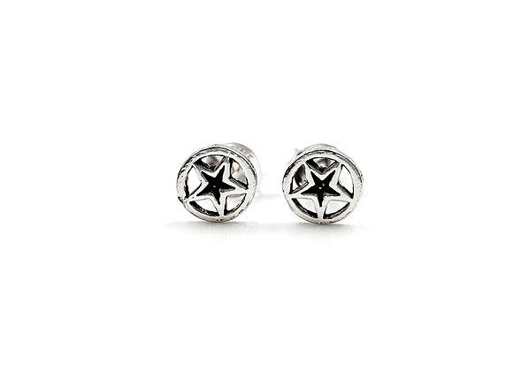 Sterling Silver Earrings, Star, Star Earrings, Silver Star Earrings, Silver star Studs, Sterling Silver star Earrings, star,