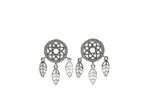 The Dream Catcher 925 Sterling Silver Stud Earrings