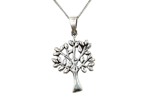Silver Necklace, Maple, Silver, Tree, Maple necklace, Silver Maple Tree Necklace, Sterling Silver Maple Tree necklace,