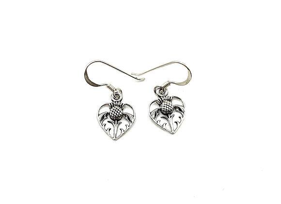 scottish, thistle, scottish thistle, silver, drop earrings, scottish thistle drop earrings, silver thistle drop earrings,