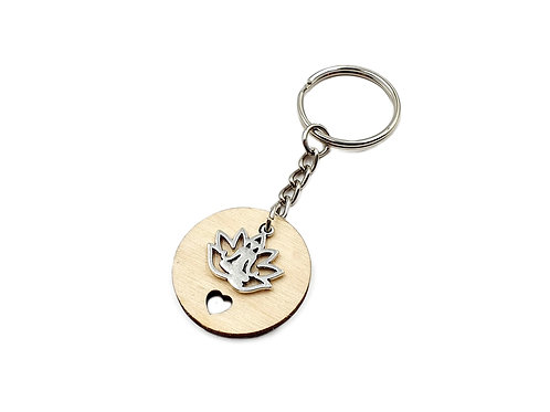 The Yoga Lily Key Ring