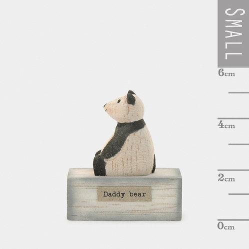 Little Wooden 'Daddy Bear' Mini Panda Figurine