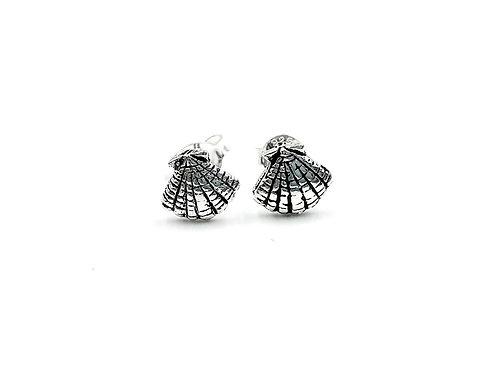 Sterling Silver Earrings, Shell, Shell Earrings, Silver Shell Earrings, Silver Shell Studs, Sterling Silver Shell Earrings,