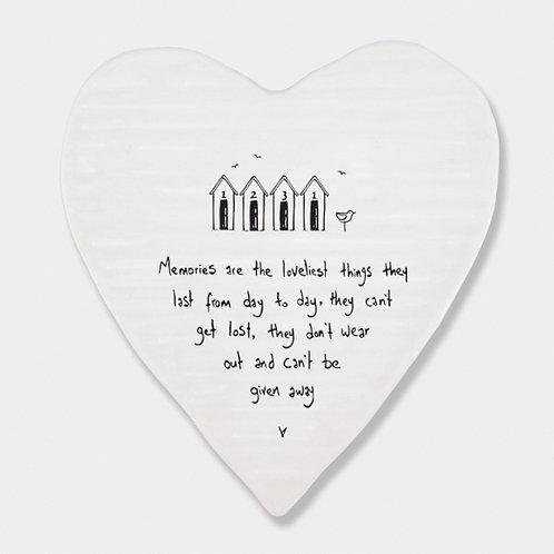 Porcelain Heart 'Memories' Coaster