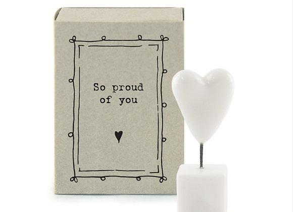 Little Matchbox Porcelain 'So Proud of You' Mini Heart Figurine