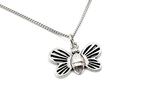 Silver Necklace, Bee, Bee, necklace, Silver Bee Necklace, Sterling Silver Bee necklace, Bees, Enchanted,