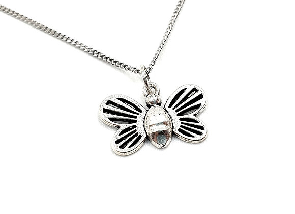 Silver Necklace, Bee, Bee, necklace, Silver Bee Necklace, Sterling Silver Bee necklace, Bees, Enchanted,