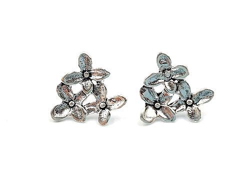 Forget, me, not, Flower, Flower Earrings, Silver Flower Earrings, Silver Flower Studs, Sterling Silver Flower Earrings,