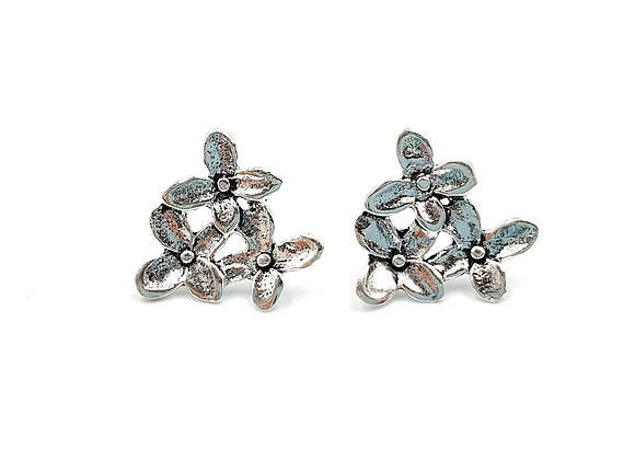 Forget, me, not, Flower, Flower Earrings, Silver Flower Earrings, Silver Flower Studs, Sterling Silver Flower Earrings,