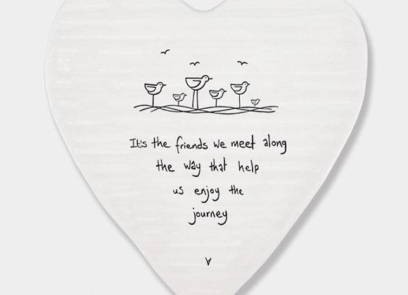 Porcelain Heart 'Friends We Meet' Coaster