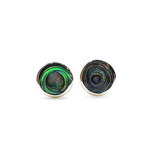 The Abalone Shell Round 925 Sterling Silver Stud Earrings