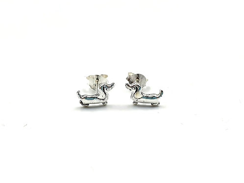 Sausage Dog Studs, Sausage Dog, Dog Earrings, Silver Dog Earrings, Silver Dog Studs, Sterling Silver Dog Earrings,