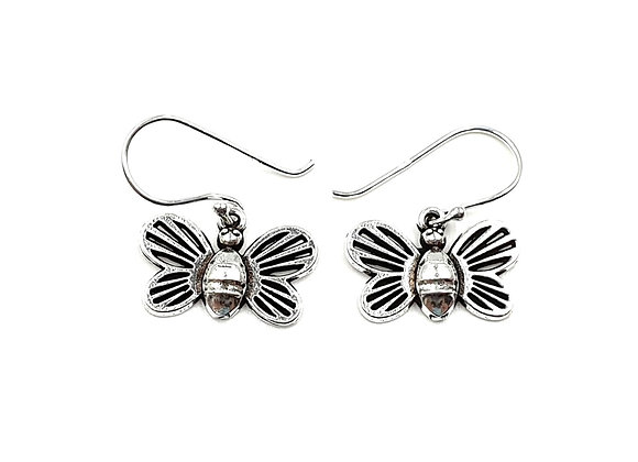 Butterfly, Drop, Earrings, Butterfly Drop Earrings, Silver Butterfly Drop Earrings, Sterling Silver Butterfly Drop Earrings,