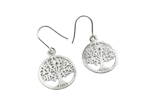 Tree, of, life, Drop, Earrings, Tree of life Drop Earrings, Silver Tree Drop Earrings, Sterling Silver Tree Drop Earrings,