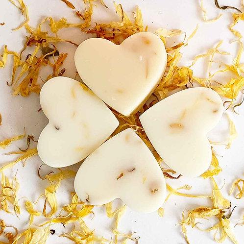 4 x Lemongrass & Ginger Soy Wax Melt Hearts