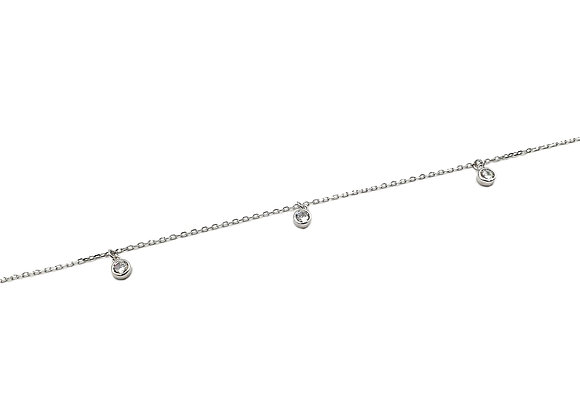 The Dangle Anklet 925 Sterling Silver Bracelet