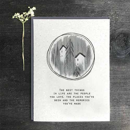 'The best things in life are people' Greeting Card A6
