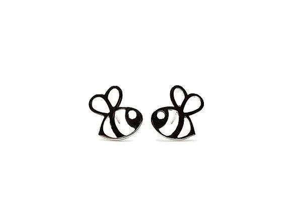 The Hollow Bee 925 Sterling Silver Stud Earrings