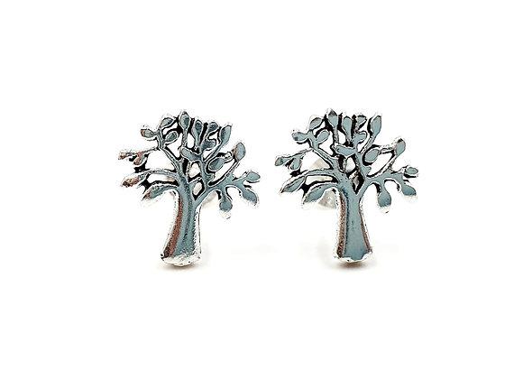 Sterling Silver Earrings, Maple, Tree, Tree Earrings, Silver Tree Earrings, Silver Tree Studs, Sterling Silver Tree Earrings,