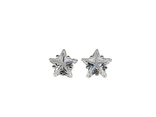 The Bright Star CZ 925 Sterling Silver Stud Earrings