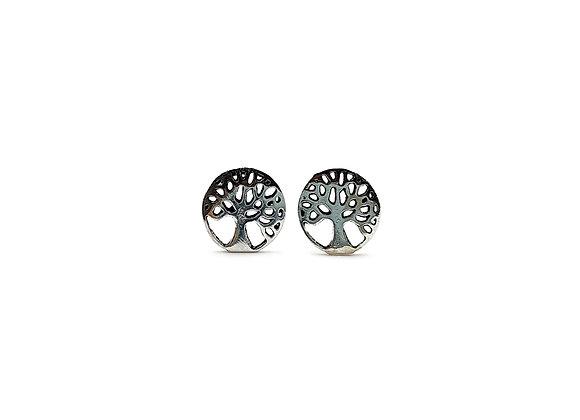 The Oak Tree of Life 925 Sterling Silver Stud Earrings