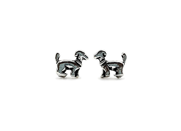 The Little Dog 925 Silver Stud Earrings