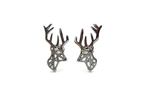 Sterling Silver Earrings, Stag, Stag Earrings, Silver Stag Earrings, Silver Stag Studs, Sterling Silver stag Earrings, stag,
