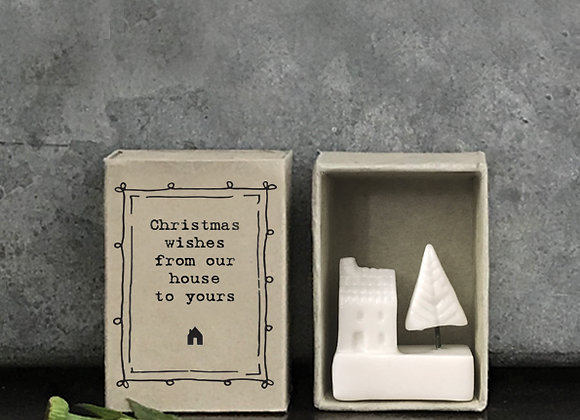 Little Matchbox Porcelain 'Our House to Yours' Mini Christmas Figurine