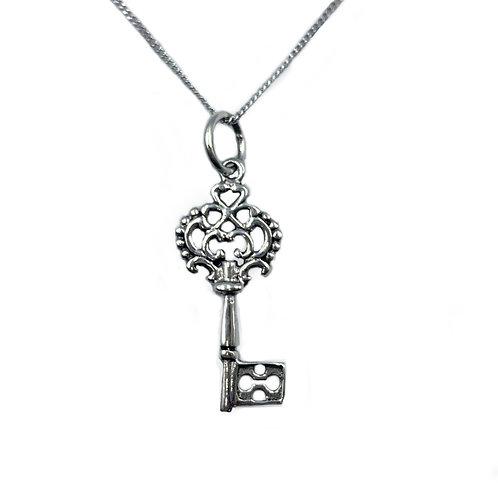 The Secret Mansion Key 925 Sterling Silver Necklace