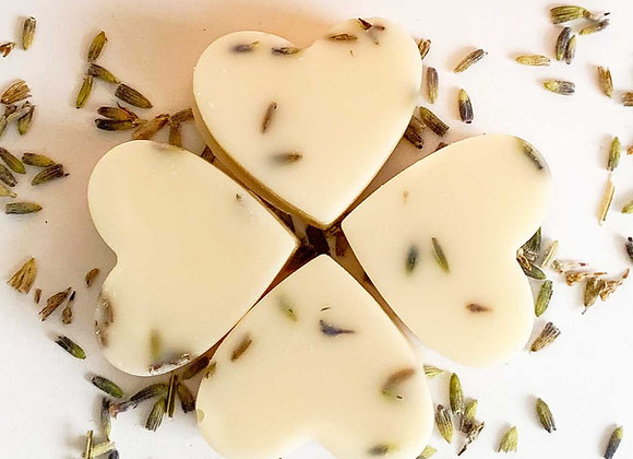 4 x Lavender Soy Wax Melt Hearts