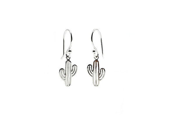 The Cactus 925 Sterling Silver Drop Earrings