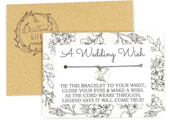 Bridesmaid Wedding Wish Bracelet
