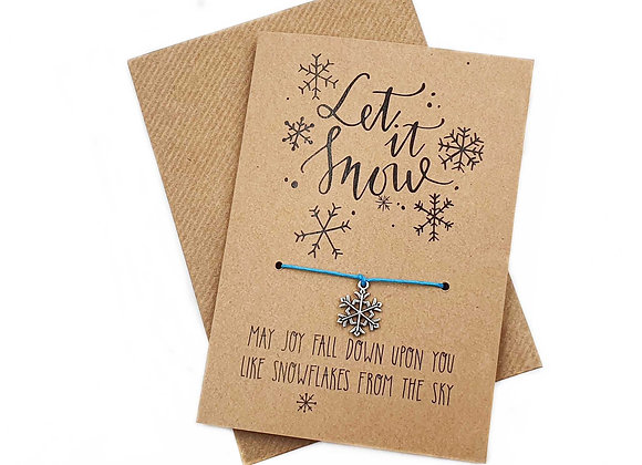 Greetings Cards, Cards, Snowflake, Recyclable Cards, Recycled Greeting Cards, Recyclable Greeting Cards, wish, bracelet,