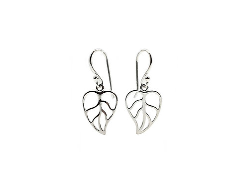 The Forest Leaf 925 Sterling Silver Drop Earrings