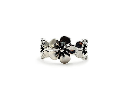 The Tropical Flower 925 Sterling Silver Ring