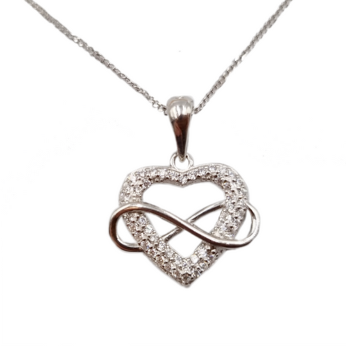 The Infinity Heart 925 Sterling Silver Necklace