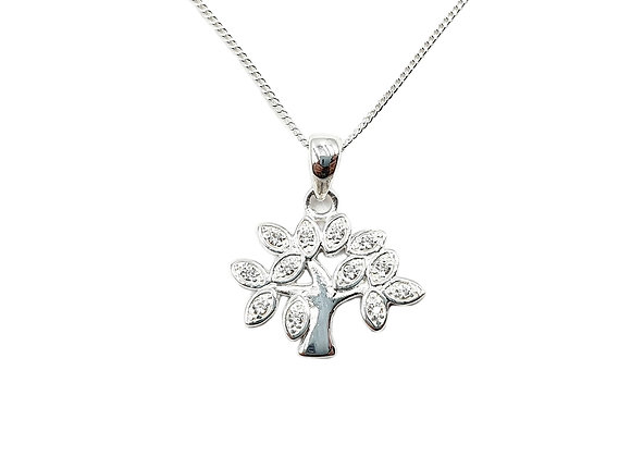 The Sparkling Tree Of Life 925 Sterling Silver Necklace