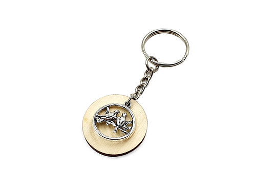 The Love Birds Key Ring