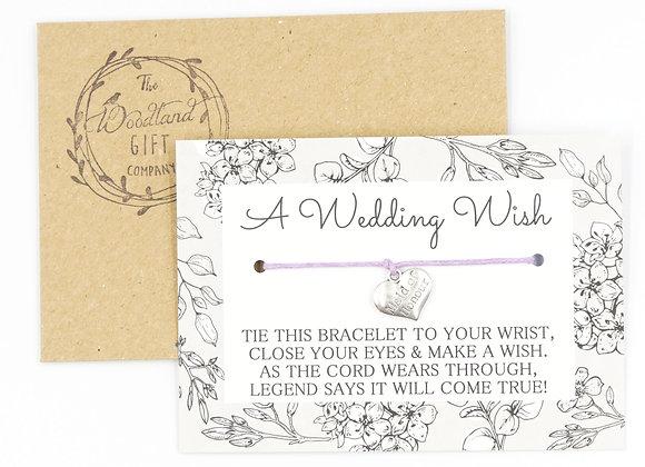 Maid of Honour Wedding Wish Bracelet