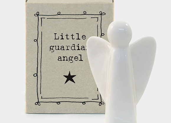 Little Matchbox Porcelain 'Guardian Angel' Mini Angel Figurine