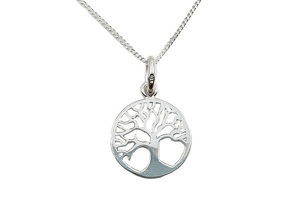 The Winter Tree Of Life 925 Sterling Silver Necklace
