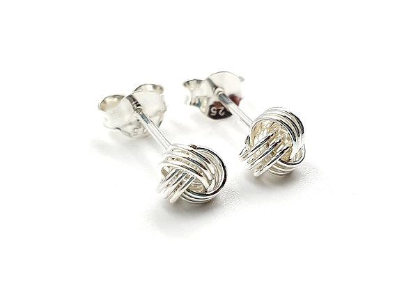 Sterling Silver Earrings, Knot, Knot Earrings, Silver Knot Earrings, Silver Knot Studs, Sterling Silver Knot Earrings,