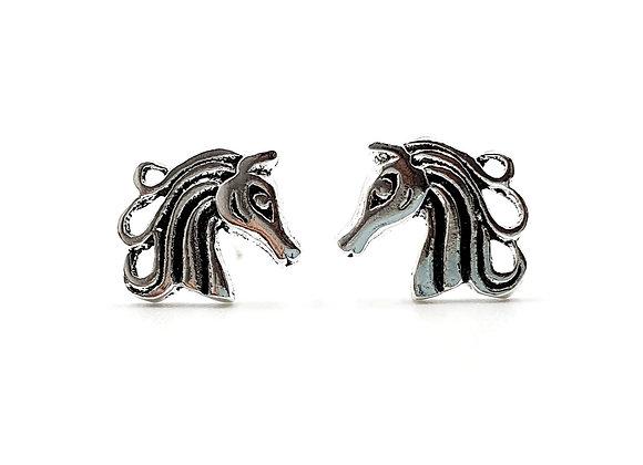 Sterling Silver Earrings, Horse, Horse Earrings, Silver Horse Earrings, Silver Horse Studs, Sterling Silver Horse Earrings,