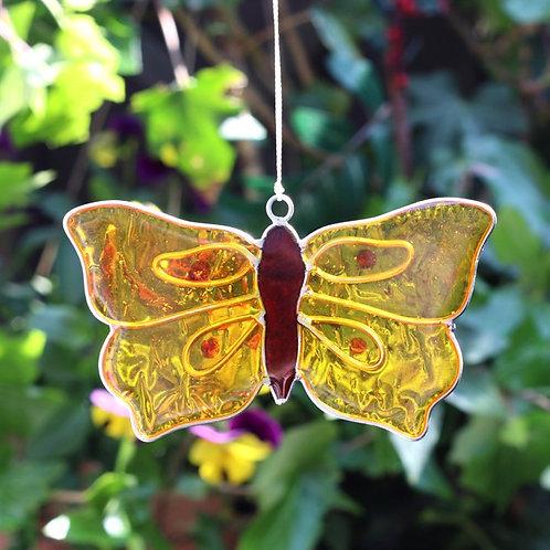 Yellow Brimstone Butterfly Hanging Suncatcher