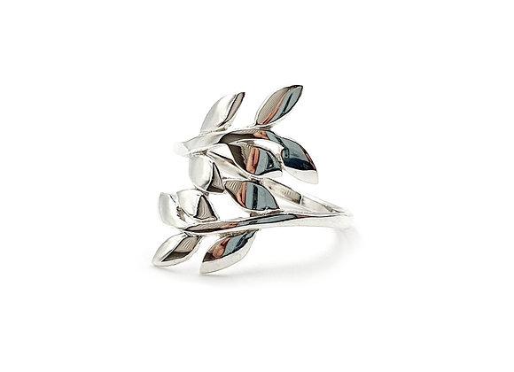 Leaf, Rings, Leaf Rings, Silver Leaf Rings, Sterling Silver Leaf Rings, Leaf ring, sterling silver Leaf, Vine, Vine Leaf,