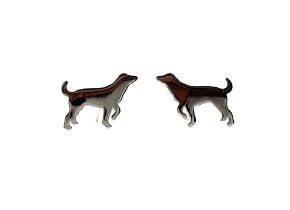 Sterling Silver Earrings, Labrador, Labrador Earrings, Silver Labrador Earrings, Sterling Silver Labrador Earrings, studs,